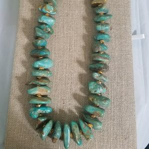Huge chunky turquoise necklace